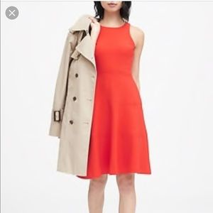 Banana Republic a line red Dress